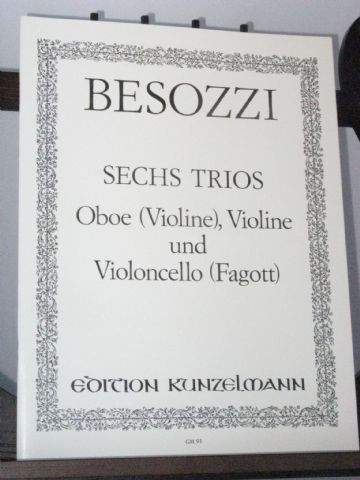 Besozzi A  6 Trios for Oboe Violin & Bass